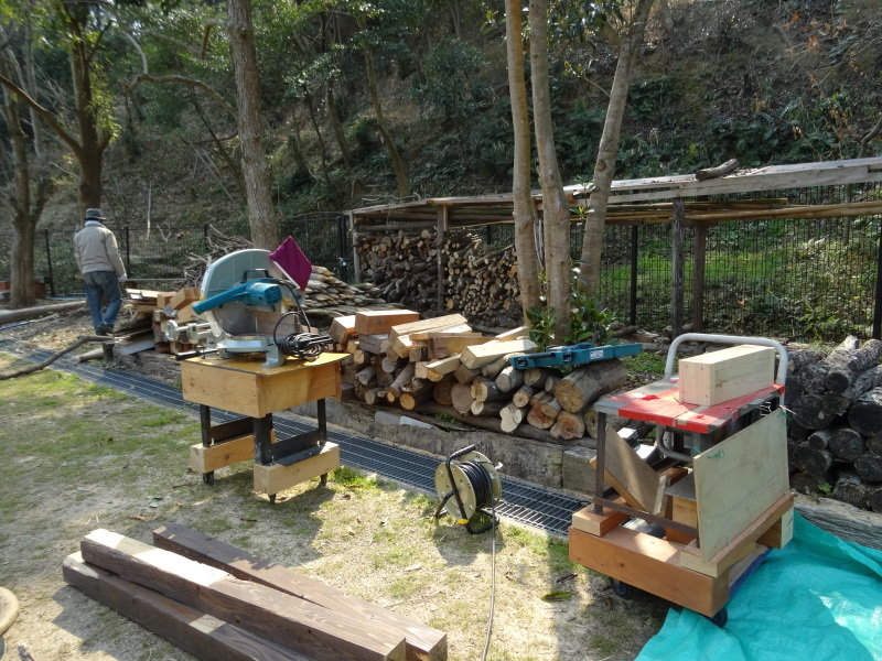 カブトムシの幼虫の保護&伐採木の片付け・・・うみべの森_c0108460_21554395.jpg