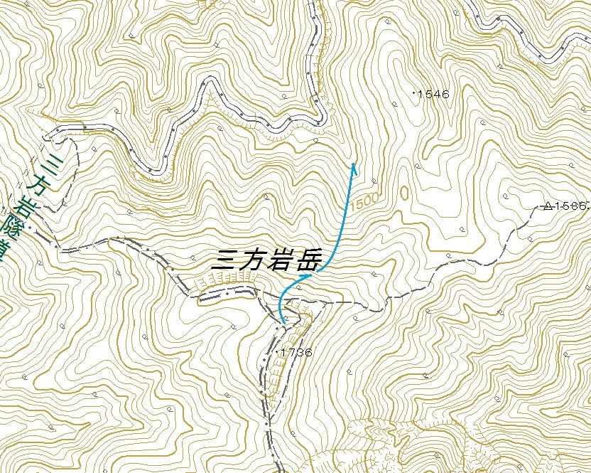 三方岩岳北面滑降_e0064783_11550888.jpg