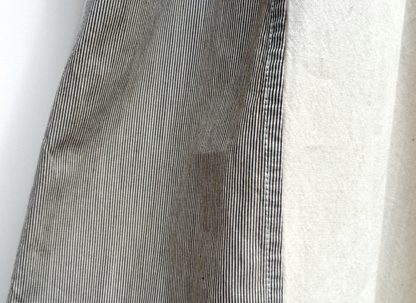 綿×ペルー綿 ピンストライプ ワイドギャザーパンツ / FACTORY_d0193211_19533768.jpg