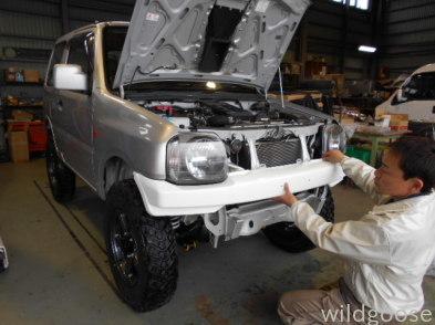 JB23 ジムニー 7型展示車両作製中&プリウス車検整備中(。・´∀・`)ノ_c0213517_14281235.jpg
