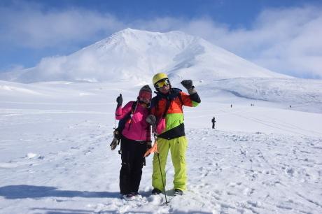 2017年2月5日サンピラーの舞う大雪山旭岳で滑る_c0242406_17113996.jpg