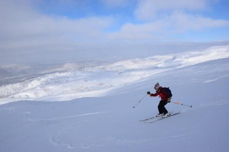 2017年2月5日サンピラーの舞う大雪山旭岳で滑る_c0242406_17132528.jpg