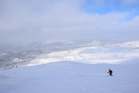2017年2月5日サンピラーの舞う大雪山旭岳で滑る_c0242406_17140408.jpg