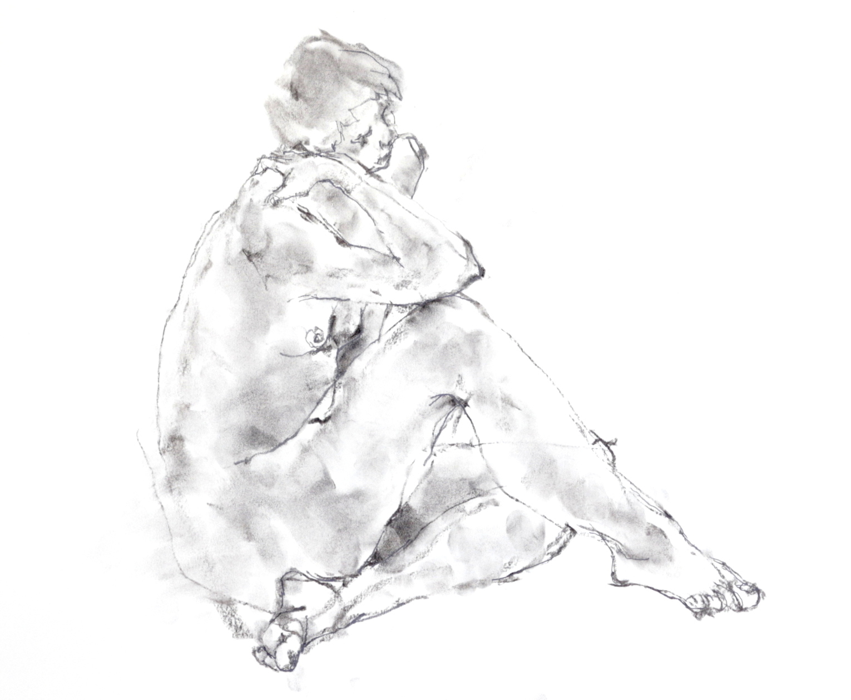 《 三月のある日の 「 裸婦クロッキー(croquis)」 1 》_f0159856_09382191.jpg