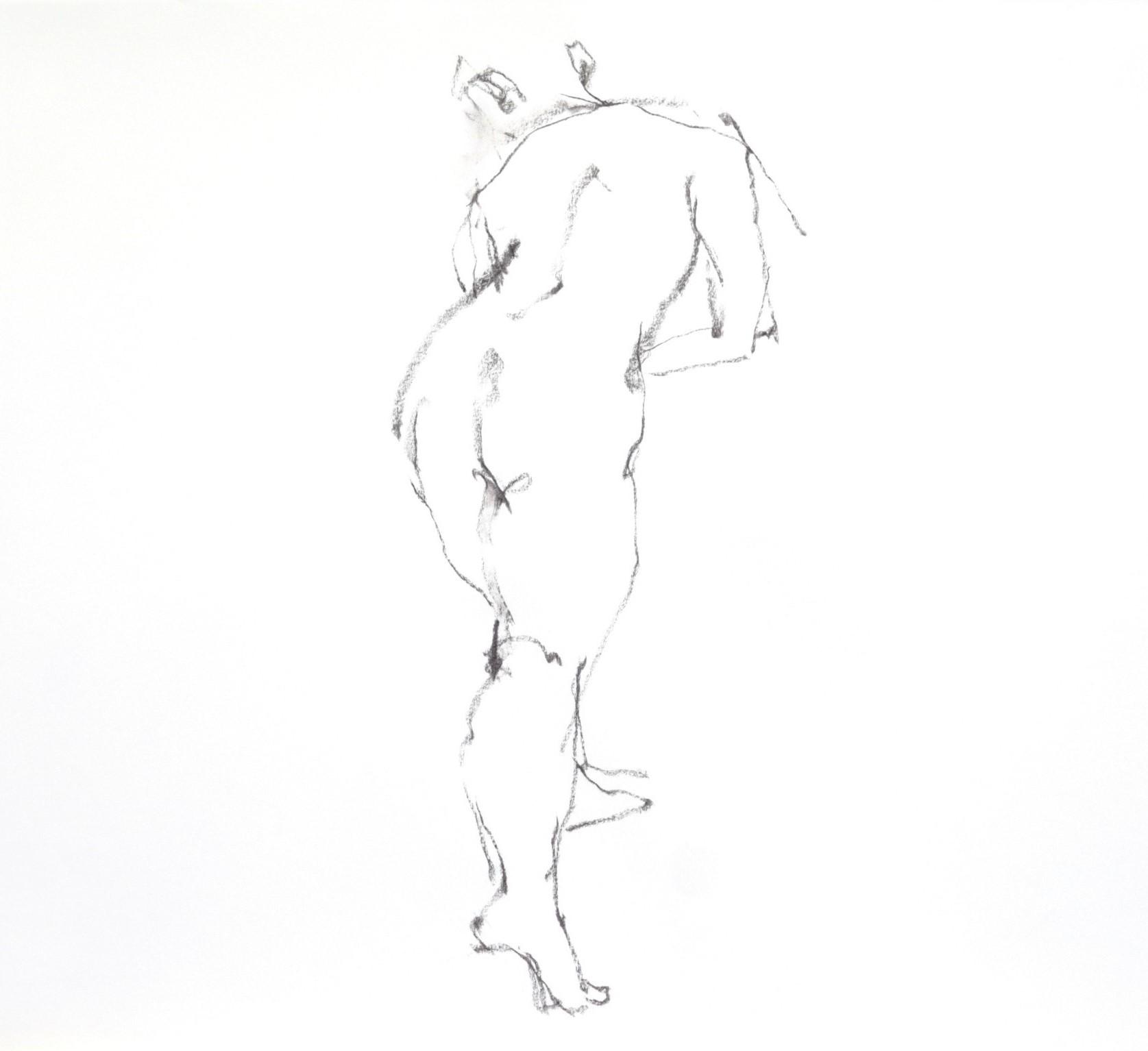 《 三月のある日の 「 裸婦クロッキー(croquis)」 2 》_f0159856_12230203.jpg