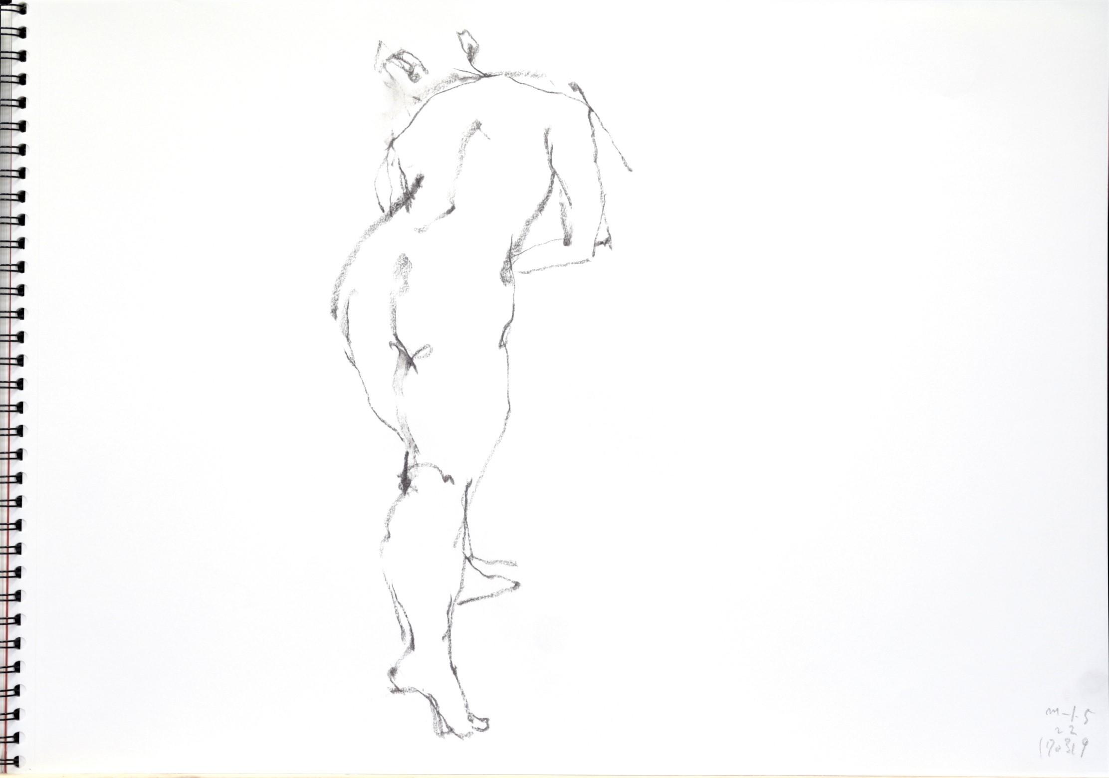 《 三月のある日の 「 裸婦クロッキー(croquis)」 2 》_f0159856_12300775.jpg