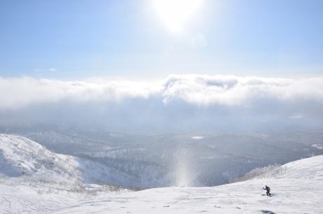 2017年2月5日サンピラーの舞う大雪山旭岳で滑る_c0242406_16472677.jpg