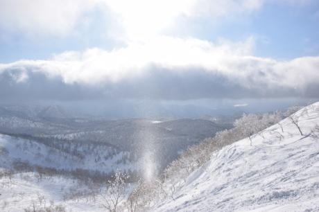 2017年2月5日サンピラーの舞う大雪山旭岳で滑る_c0242406_16492790.jpg