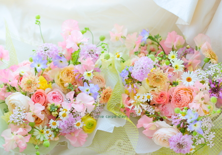 贈答花 レストランFEU様へ 春の花たくさんで_a0042928_103094.jpg