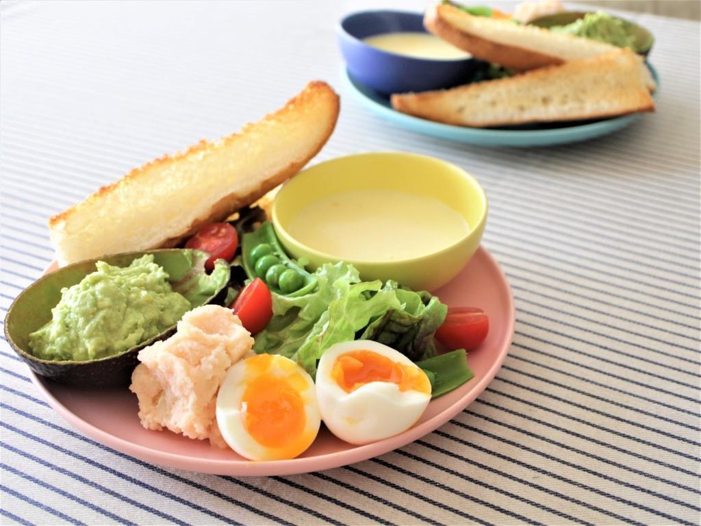春サラダとアボカドディップ♡_f0220354_08590241.jpg