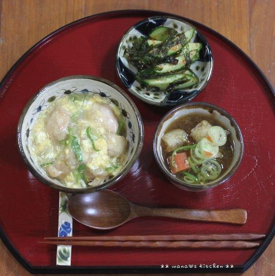 まぐろのパン粉焼きと常備菜 ✿ 親子丼(๑¯﹃¯๑)♪_c0139375_11455873.jpg
