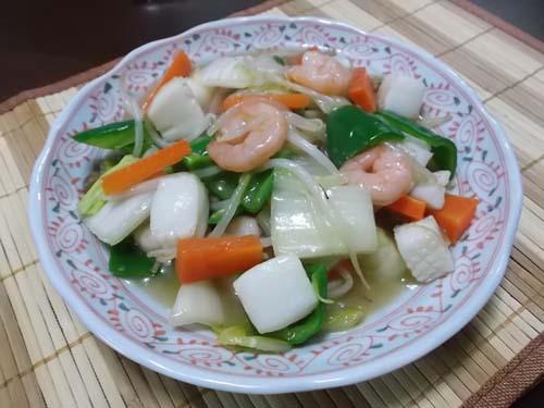 八宝菜&カレイの煮付け_f0019498_1864932.jpg