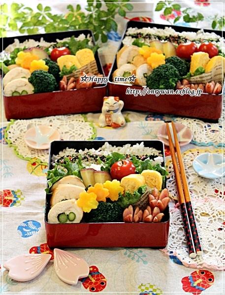 アスパラでチキンロール弁当と今夜は海鮮丼♪_f0348032_19033991.jpg