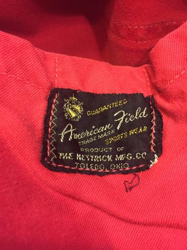 3月26日(日)入荷!Red ハンティング jacket!_c0144020_21240732.jpg