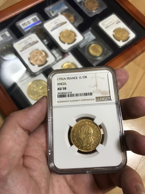 ルイ16世 存命中最後の24 Livres金貨!_d0357629_12180397.jpg