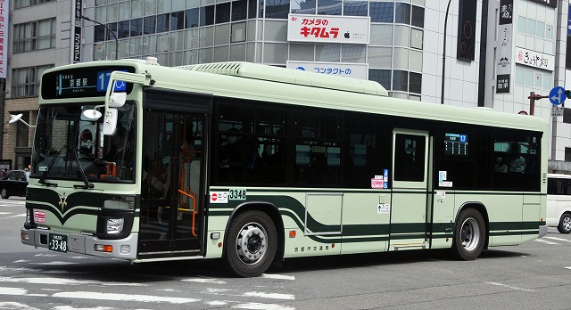 京都市バス~新型エルガ・ノンステップバス  3348_a0164734_17145766.jpg