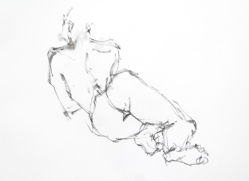 《 三月のある日の 「 裸婦クロッキー(croquis)」 3 》_f0159856_13261559.jpg