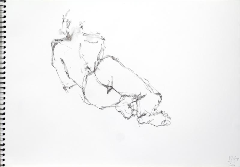 《 三月のある日の 「 裸婦クロッキー(croquis)」 3 》_f0159856_13392237.jpg