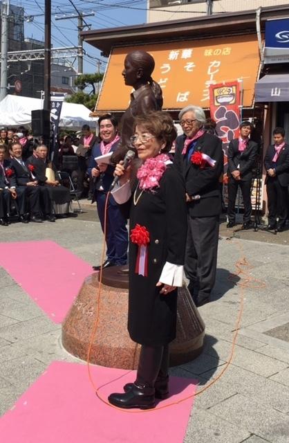 3月26日(日)見送るさくら像と倍賞千恵子さん_d0278912_10524218.jpg