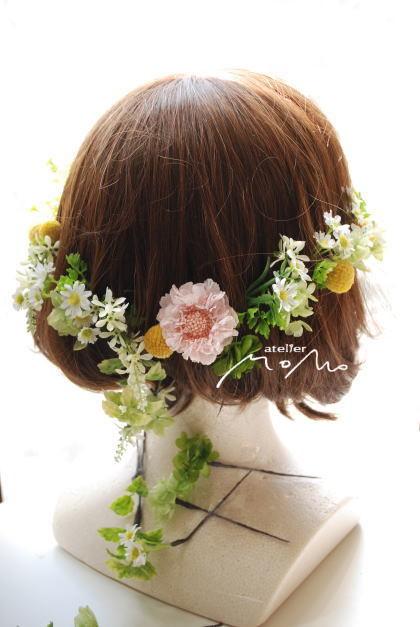 ピンクスカビオサと小花のクラッチブーケ!_a0136507_21250344.jpg