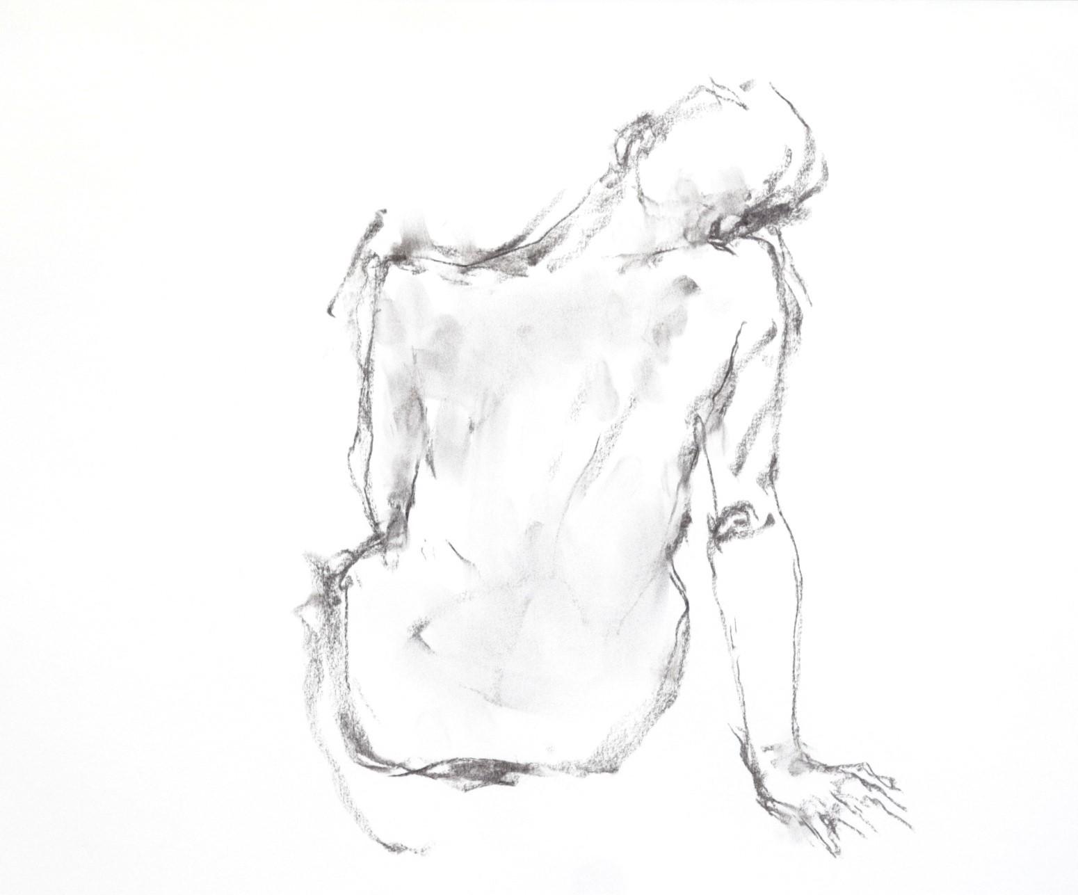 《 三月のある日の 「 裸婦クロッキー(croquis)」 4 》_f0159856_09074910.jpg