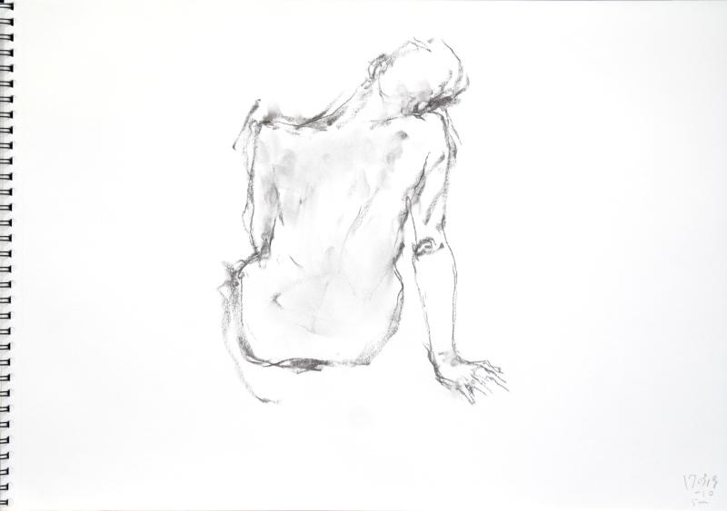 《 三月のある日の 「 裸婦クロッキー(croquis)」 4 》_f0159856_09095721.jpg
