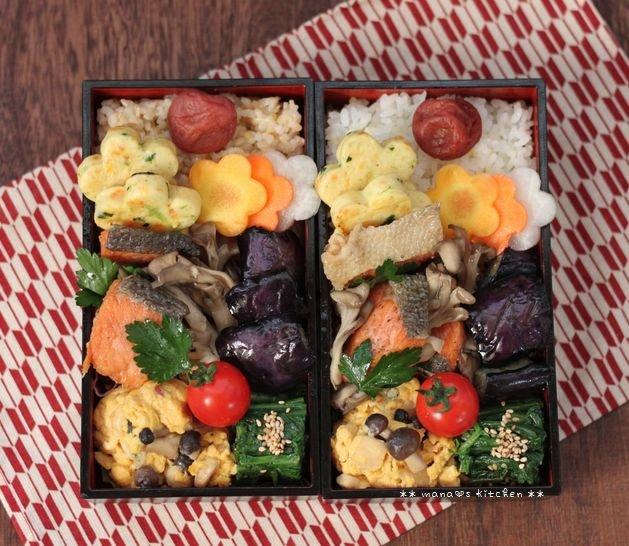 鮭と舞茸のエスカベッシュ ✿ チキンとひよこ豆のスパイシーカレー(๑¯﹃¯๑)♪_c0139375_11131255.jpg