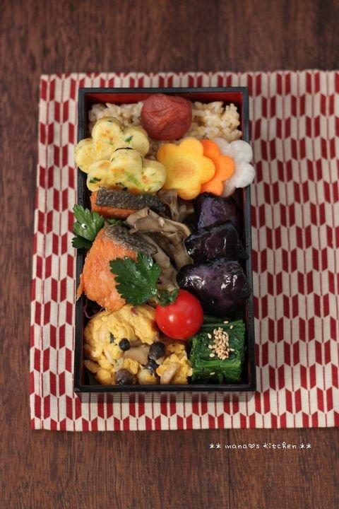 鮭と舞茸のエスカベッシュ ✿ チキンとひよこ豆のスパイシーカレー(๑¯﹃¯๑)♪_c0139375_1113155.jpg