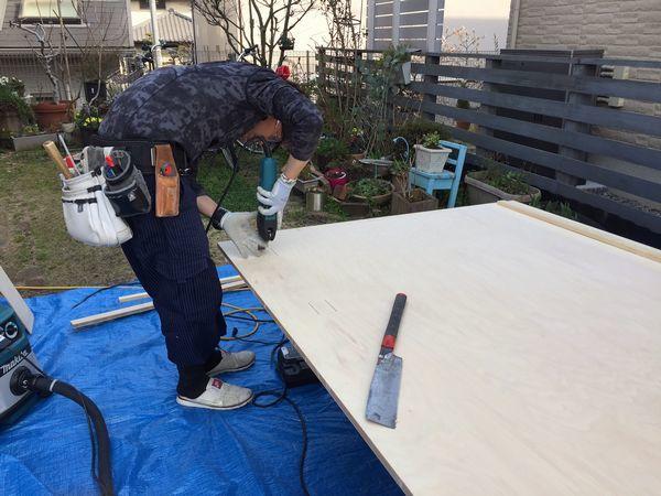 子供室造作工事。_b0131012_19332436.jpg