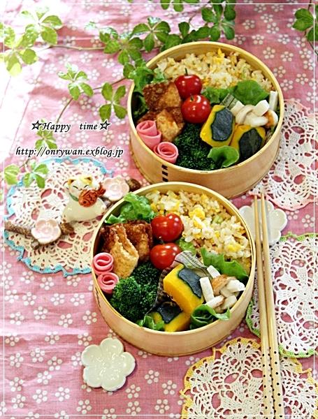 ささみチーズのパリパリ揚げ・炒飯弁当と~♪_f0348032_17575741.jpg
