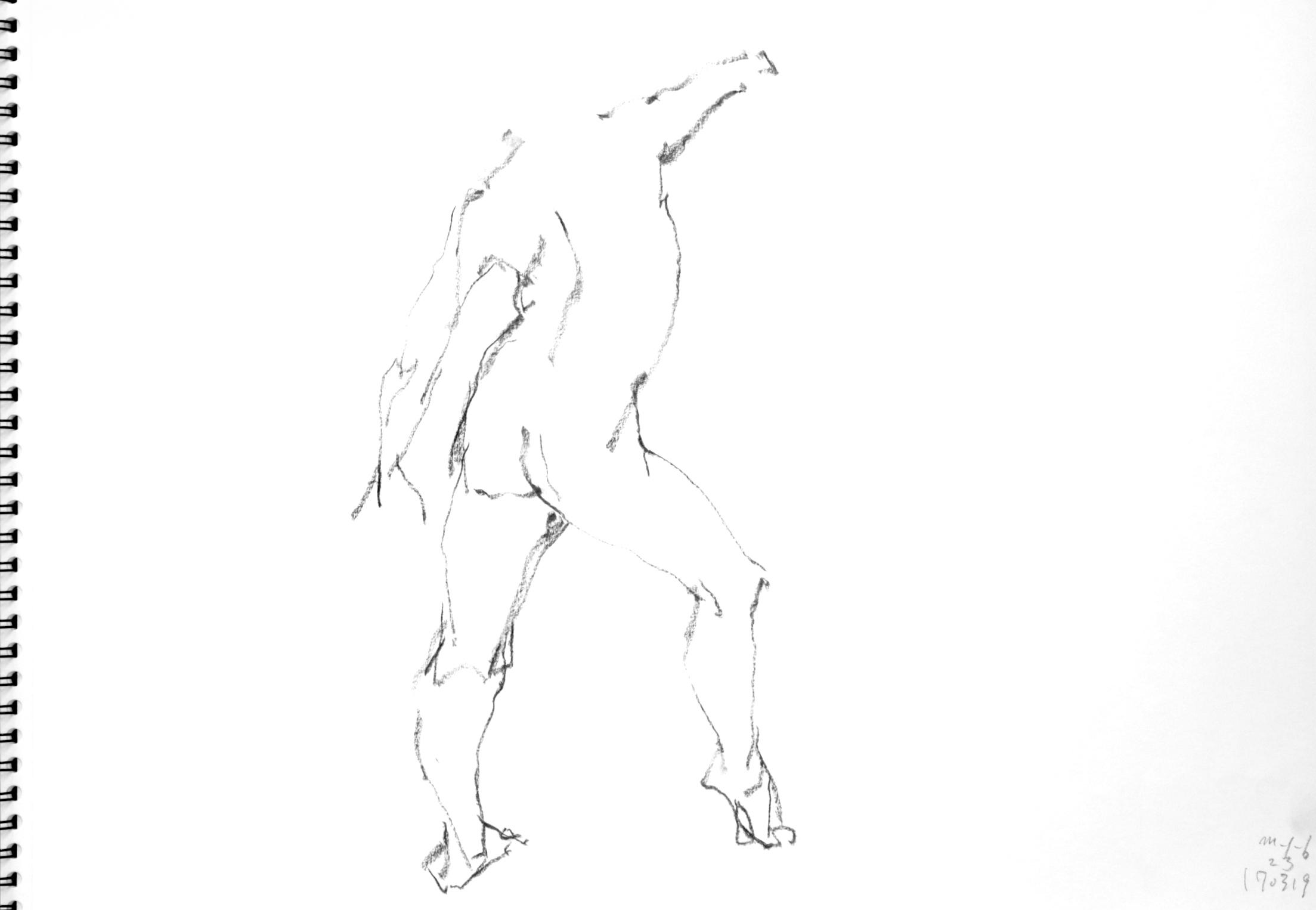 《 三月のある日の 「 裸婦クロッキー(croquis)」 5 》_f0159856_07213355.jpg