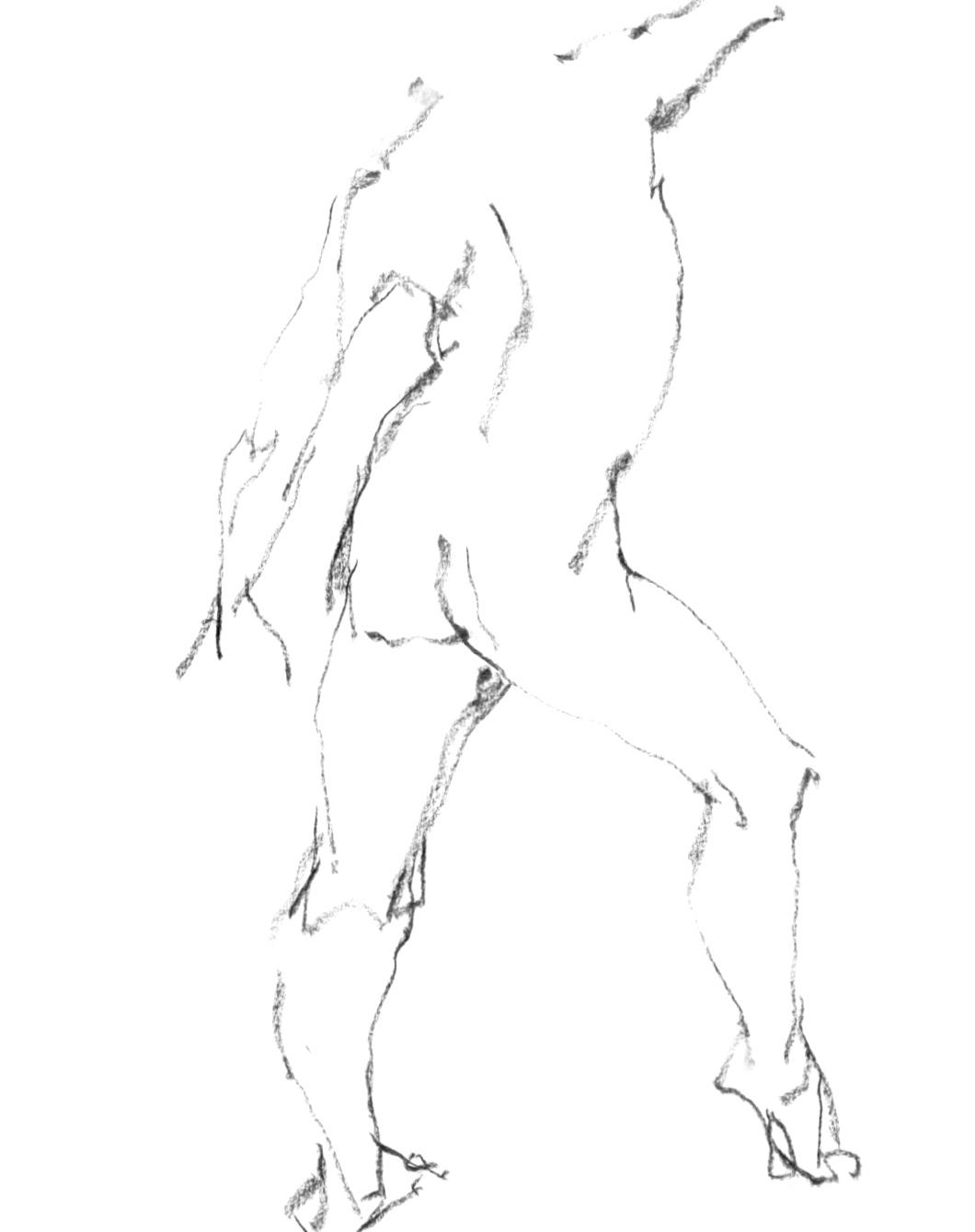 《 三月のある日の 「 裸婦クロッキー(croquis)」 5 》_f0159856_07531403.jpg