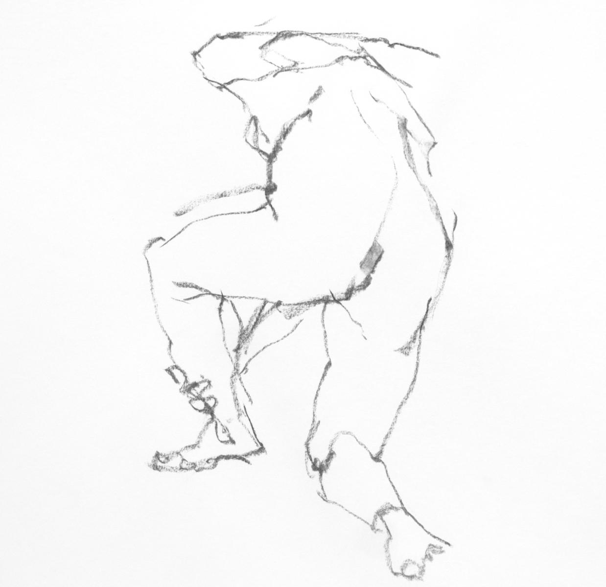 《 三月のある日の 「 裸婦クロッキー(croquis)」 6 》_f0159856_21581800.jpg