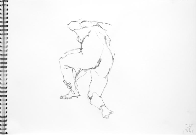 《 三月のある日の 「 裸婦クロッキー(croquis)」 6 》_f0159856_21585787.jpg