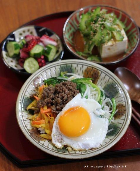 常備菜づくし ✿ 簡単ビビンバ丼(๑¯﹃¯๑)♪_c0139375_10322410.jpg