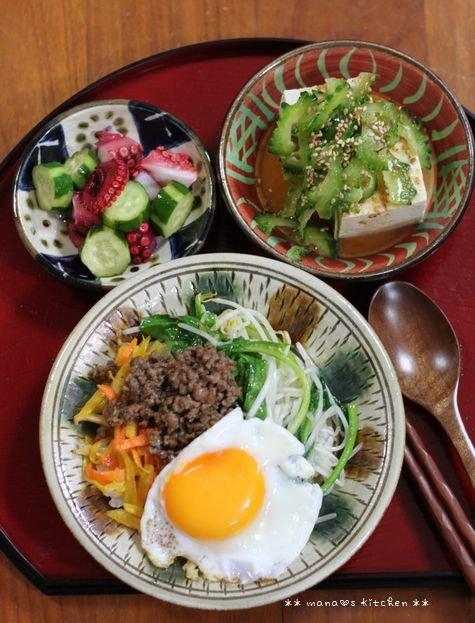 常備菜づくし ✿ 簡単ビビンバ丼(๑¯﹃¯๑)♪_c0139375_10324448.jpg