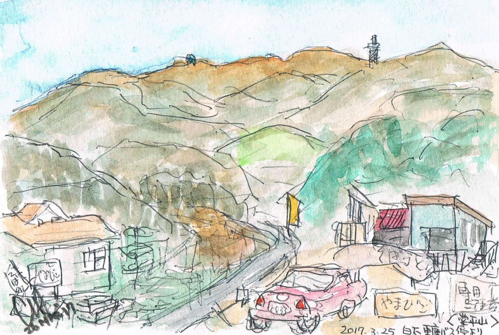 白石車庫バス停から堂平山遠望_e0232277_14243049.jpg