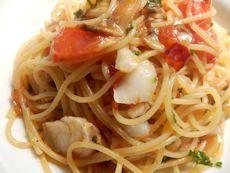 3/28本日パスタ:真鱈とケッパーのトマトソース・スパゲティ_a0116684_11423669.jpg
