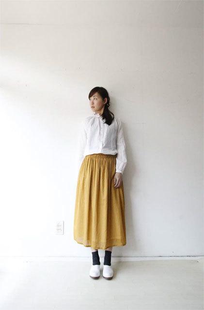 綿ローンギャザースカート_f0215708_17283830.jpg