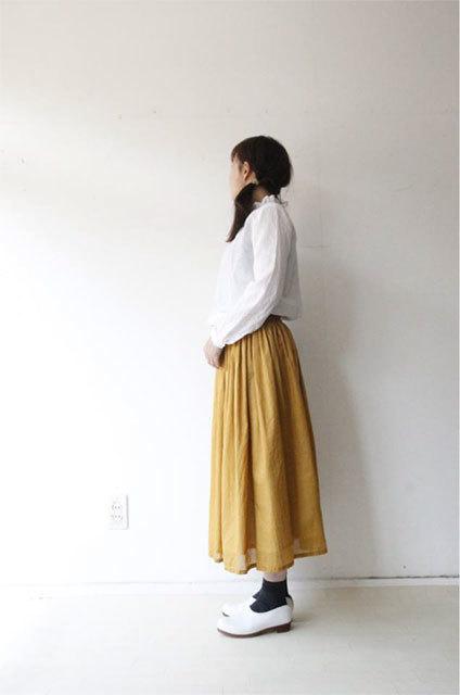 綿ローンギャザースカート_f0215708_17284125.jpg