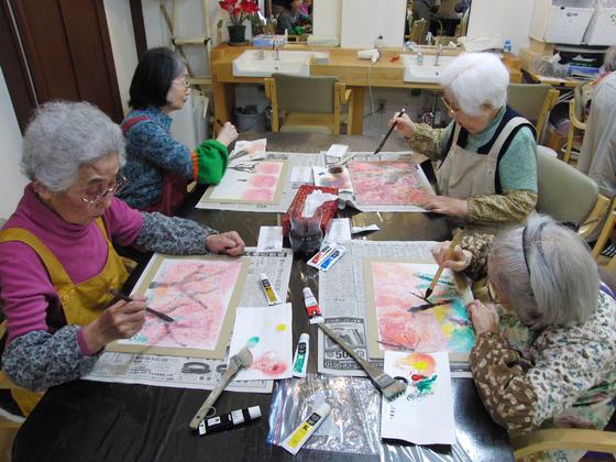 絵画 ~ 桜屏風 ~_e0222340_15383063.jpg