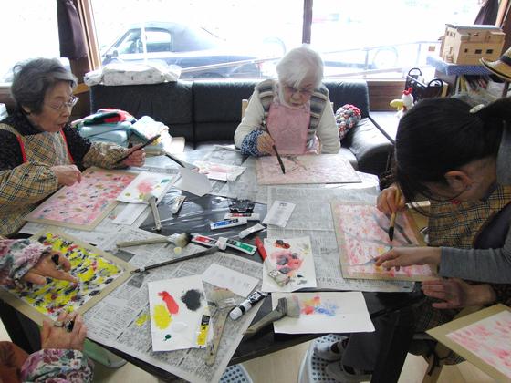 絵画 ~ 桜屏風 ~_e0222340_153847100.jpg