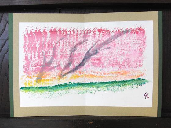絵画 ~ 桜屏風 ~_e0222340_15403534.jpg