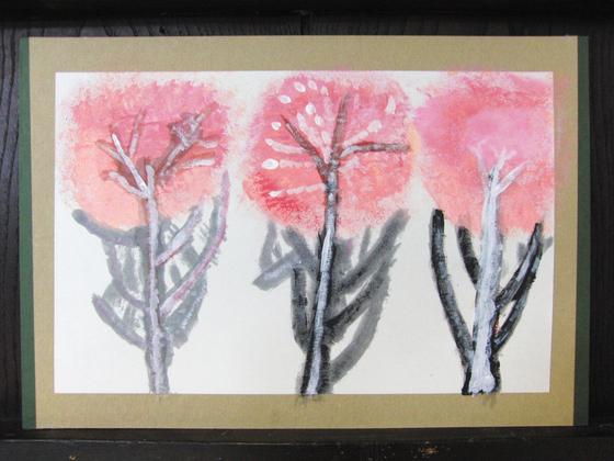 絵画 ~ 桜屏風 ~_e0222340_15405619.jpg