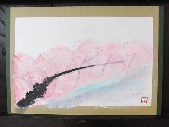 絵画 ~ 桜屏風 ~_e0222340_15412125.jpg