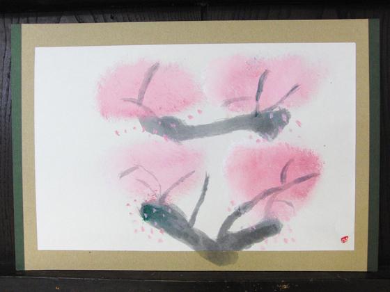 絵画 ~ 桜屏風 ~_e0222340_15423290.jpg