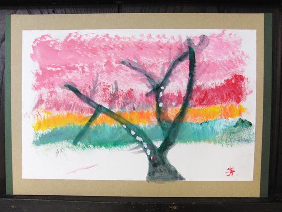 絵画 ~ 桜屏風 ~_e0222340_154297.jpg