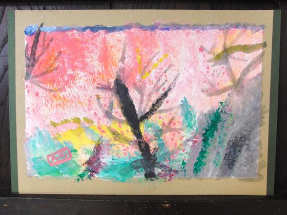絵画 ~ 桜屏風 ~_e0222340_15434266.jpg