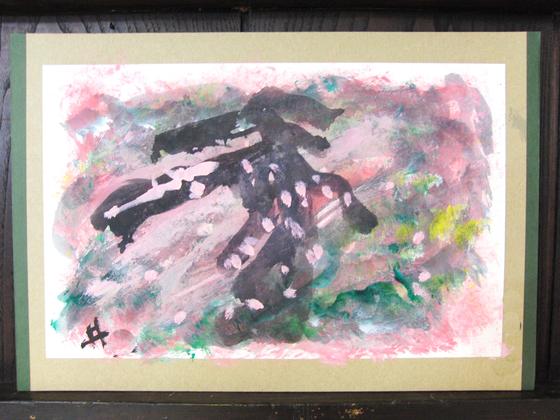 絵画 ~ 桜屏風 ~_e0222340_15443224.jpg