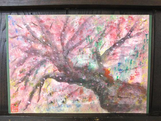 絵画 ~ 桜屏風 ~_e0222340_1544524.jpg